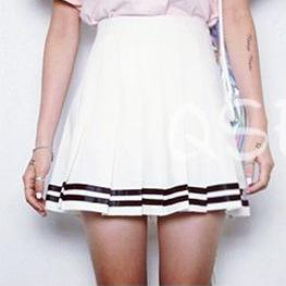 Sailor college style pleated skirt