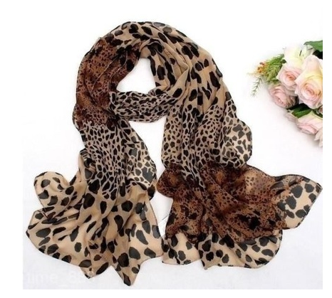 Fashion Women's Leopard Print Scarf