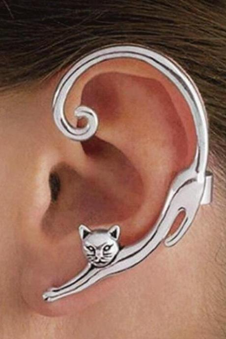 Cute Cat Ear Clip for Women Ear Cuff Earrings