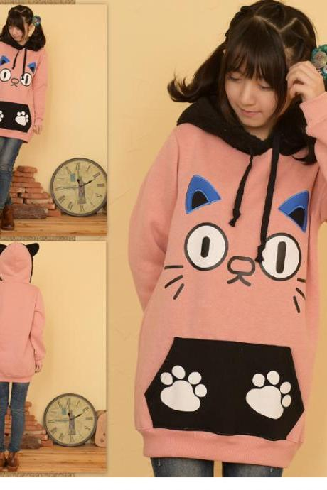 Sweet Girls Cat Hooded Coat