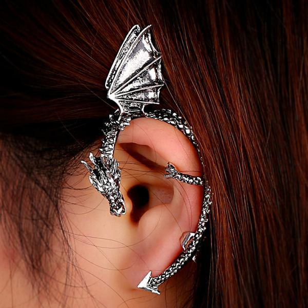 1pc Punk Style Dragon Shape Ear cuff