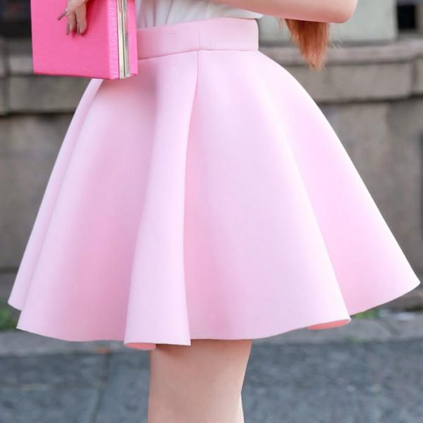 space cotton trendy skirt pink /black