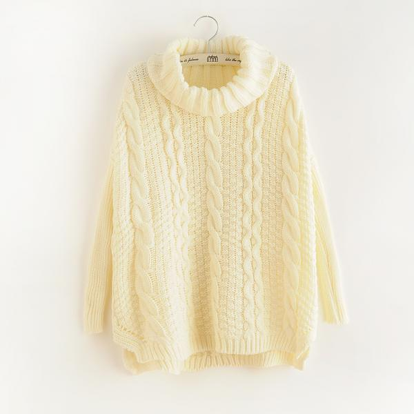 Retro Loose twist Knit Sweater