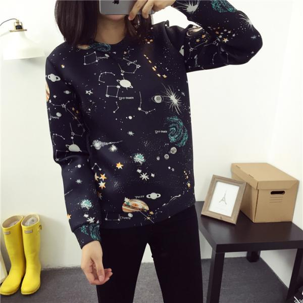 Harajuku Universe Galaxy Space Pullover Sweater